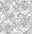 Seamless Monochrome Abstract Pattern vector image vector image
