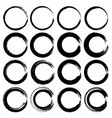 set of grunge circles round shapes vector image