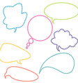 Stitched speech bubbles vector image