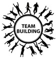 team building concept with men and women vector image vector image