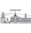 thailand phuket line skyline vector image vector image