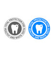 tooth logo for toothpaste and teeth whitening vector image vector image