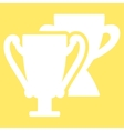 Trophy cups icon from Competition Success vector image vector image