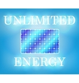 Unlimited solar energy vector image vector image