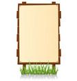 vertical wood billboard vector image