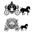 vintage carriage - two icons vector image