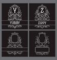 vintage monograms set for label design y z vector image