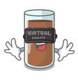 virtual reality fresh chocolate splash on pouring vector image vector image