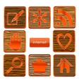 web wood sign set isolated vector image vector image