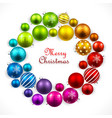 Christmas wreath of colored balls vector image
