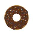 donut icon vector image