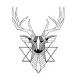 abstract reindeer design tattoo image vector image