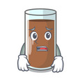 afraid fresh chocolate splash on pouring mascot vector image vector image