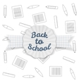 Back to School Sale Badge with Ribbon and Shadow vector image