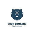 bear head logo template vector image
