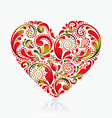 Beautiful heart on a white background vector image vector image