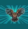 beautiful realistic owl in flight vector image