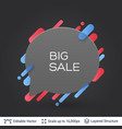 black badge big sale sticker vector image