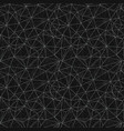 black grey network web texture seamless pattern vector image