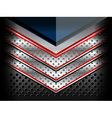 blue red metallic background vector image vector image