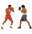 boxing fight championship vector image vector image