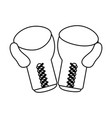 boxing gloves sport flat vector image vector image