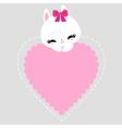 bunny 09 vector image vector image