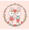 Bunny Love Invitation vector image
