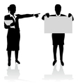 business people pointing vector image
