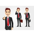 businessmen with briefcases vector image vector image