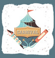carnival circus tent icon vector image