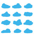 cartoon clouds on white background vector image