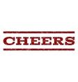 Cheers Watermark Stamp vector image vector image