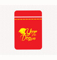 chinese new year money packets best luck ahead vector image