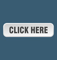 click here button here square 3d push button vector image vector image