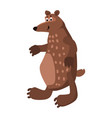 cute bear forest animal suitable for books vector image