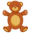 cute teddy bear cartoon character vector image