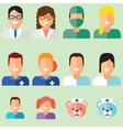 Doctors avatars set vector image vector image