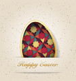 easter background with easter eggs spring vector image vector image