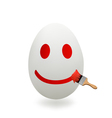 egg painted with a brush vector image vector image