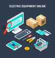 electricity isometric composition vector image vector image