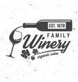 family winery badge sign or label vector image vector image