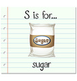Flashcard letter S is for sugar vector image vector image