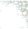 frame with soap bubbles foam vector image vector image