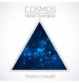 Galaxy into triangle vector image vector image