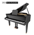 gand piano isolated on a White background vector image