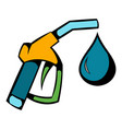 gas station gun icon icon cartoon vector image vector image