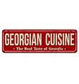 georgian cuisine vintage rusty metal sign vector image vector image