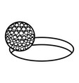 golf sport ball with hole icon vector image vector image