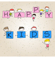 hand drawing cartoon character happy kids vector image vector image